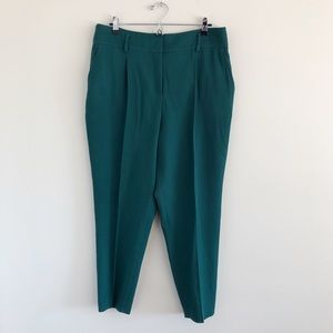 Akris Punto Green Ribbed Work Office Pants 16
